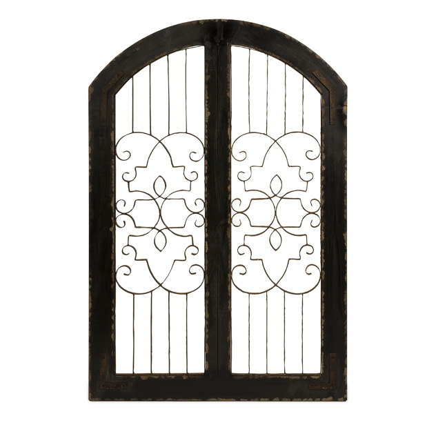 Amelia Iron and Wood Gate | Wall Art | Rococo Home Decor